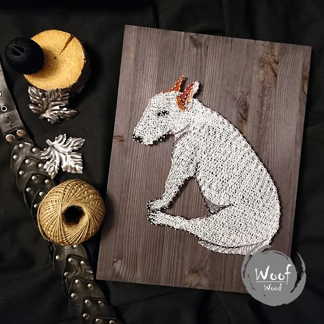 String art Bull Terrier